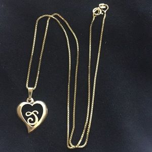 Jewelry - REAL gold necklace with initial charm